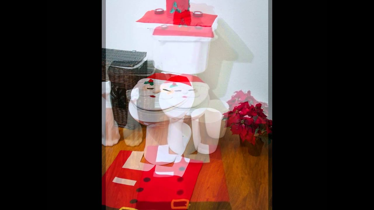 Santa Toilet Seat Cover Funny Christmas Gifts Youtube