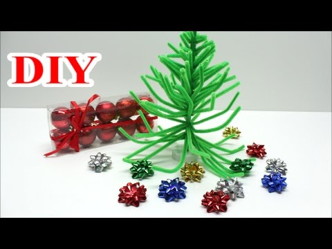 crafts for christmas how to make diy pipe cleaner christmas tree recycled bottles crafts ideas youtube