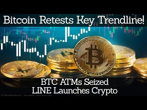 Crypto News | Bitcoin Retests Key Trendline! BTC ATMs Seized. LINE Launches Crypto