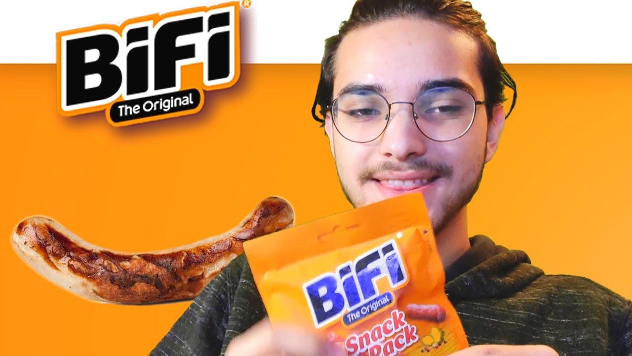 Ich fresse Bifi und habe Spaß..