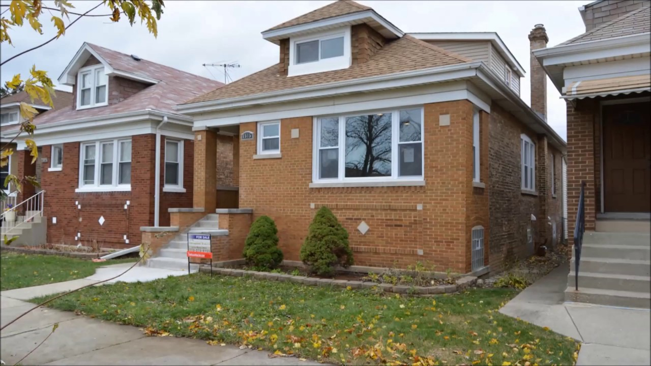 Portage Park Home For Sale Rehabbed Chicago Bungalow - YouTube