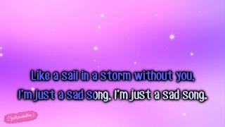We The Kings ft. Elena Coats - Sad Song [Karaoke/Instrumental]