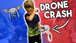 LITTLE KID CRASHES 1000$ DRONE!
