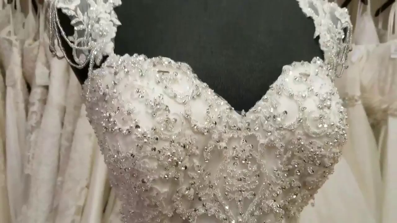 Gatsby Inspired Wedding Dress - YouTube