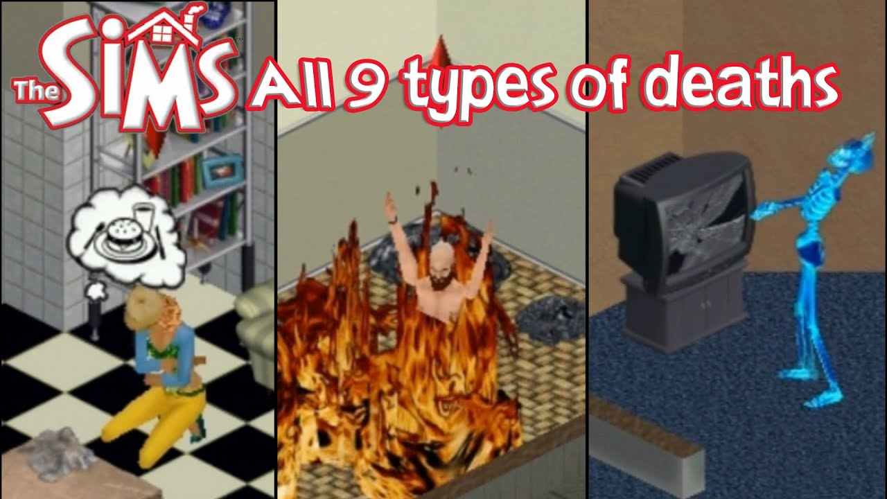 the sims 1 all 9 types of deaths base game expansion packs youtube. Black Bedroom Furniture Sets. Home Design Ideas