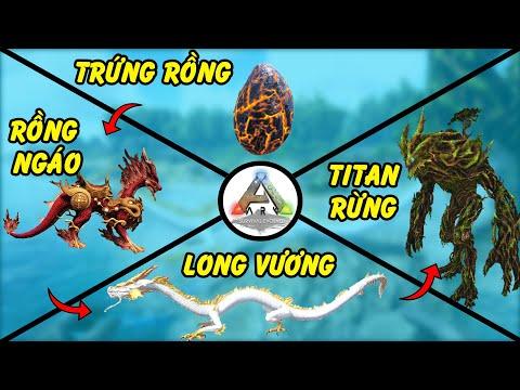 ARK - Tôi đi trộm trứng Rồng và nuôi nó thành Long Vương để diệt Titan Thần Rừng | GHTG