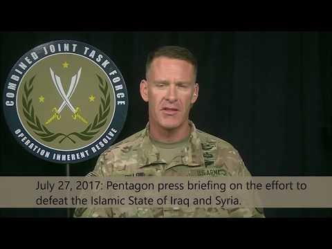 IRAQ/SYRIA: 7-27-17. Army Col. Dillon Update Discusses Problem w/ Shuk Militia & Ops Update.