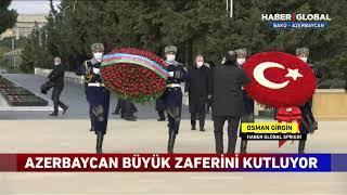 Cumhurbaşkanı Erdoğan Ve  İlham Aliyev Şehitler Hiyabanı Mezarlığı'nda!