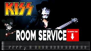 【KISS】[ Room Service ] cover by Masuka   LESSON   GUITAR TAB