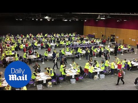 European elections: Counting under way in Edinburgh