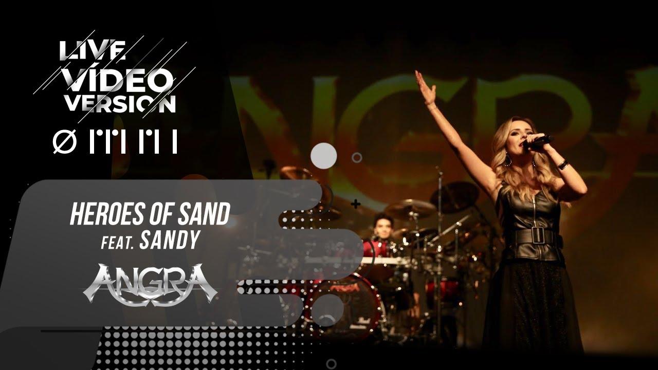 """Angra lança vídeo ao vivo de """"Heroes of Sand"""" com a participação especial de Sandy"""