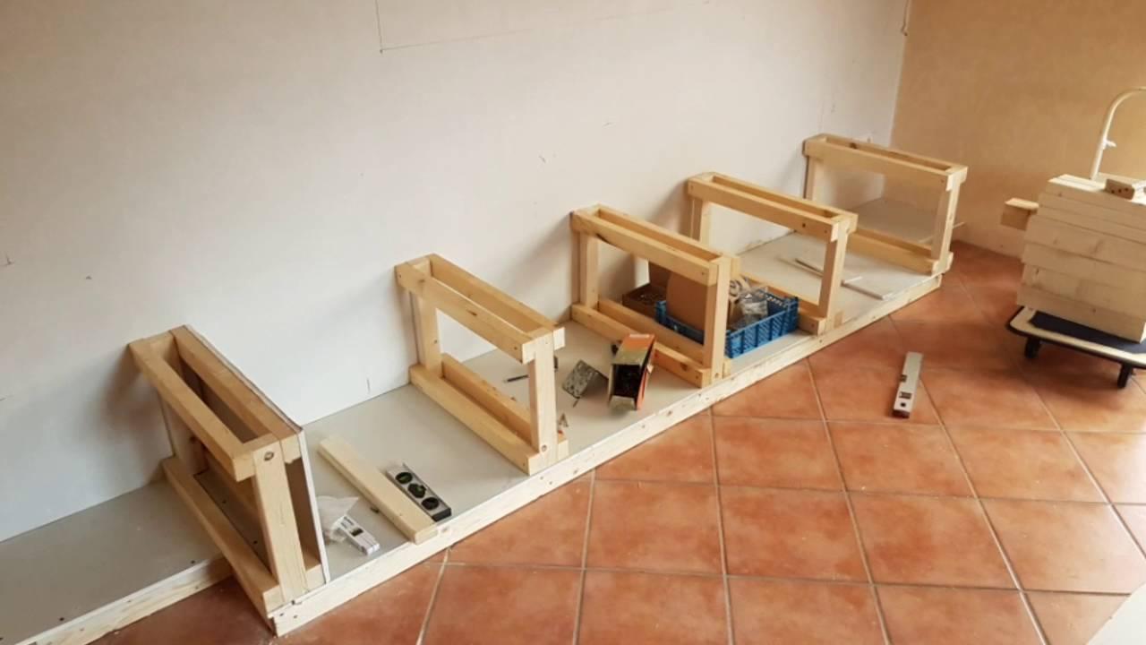 Wand bauen rigips wand verkleiden wascheabwurf - Mobile wand bauen ...