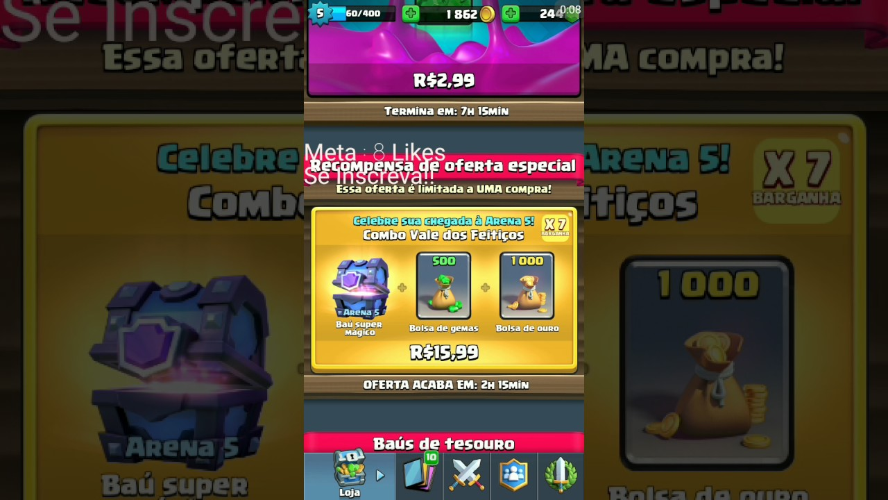 62252c6e5 Clash Royale - Comprando Oferta da Arena 5! - YouTube