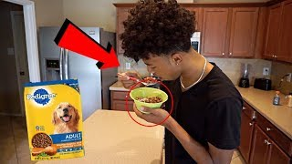 DOG FOOD IN CERAL PRANK ON CHRIS & TRAY!!!
