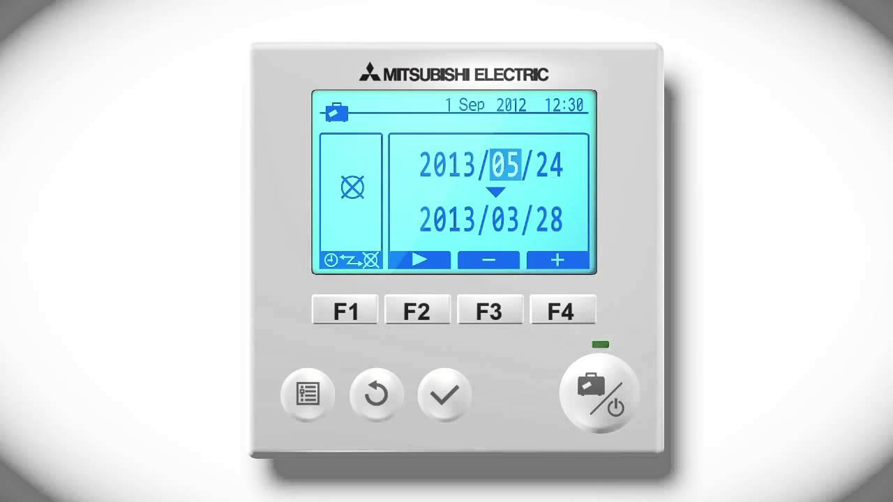 Mitsubishi Electric Ecodan FTC5 - Using the holiday mode - YouTube