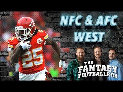 Fantasy Football 2016 - AFC & NFC West Previews, Fantasy News - Ep. #223