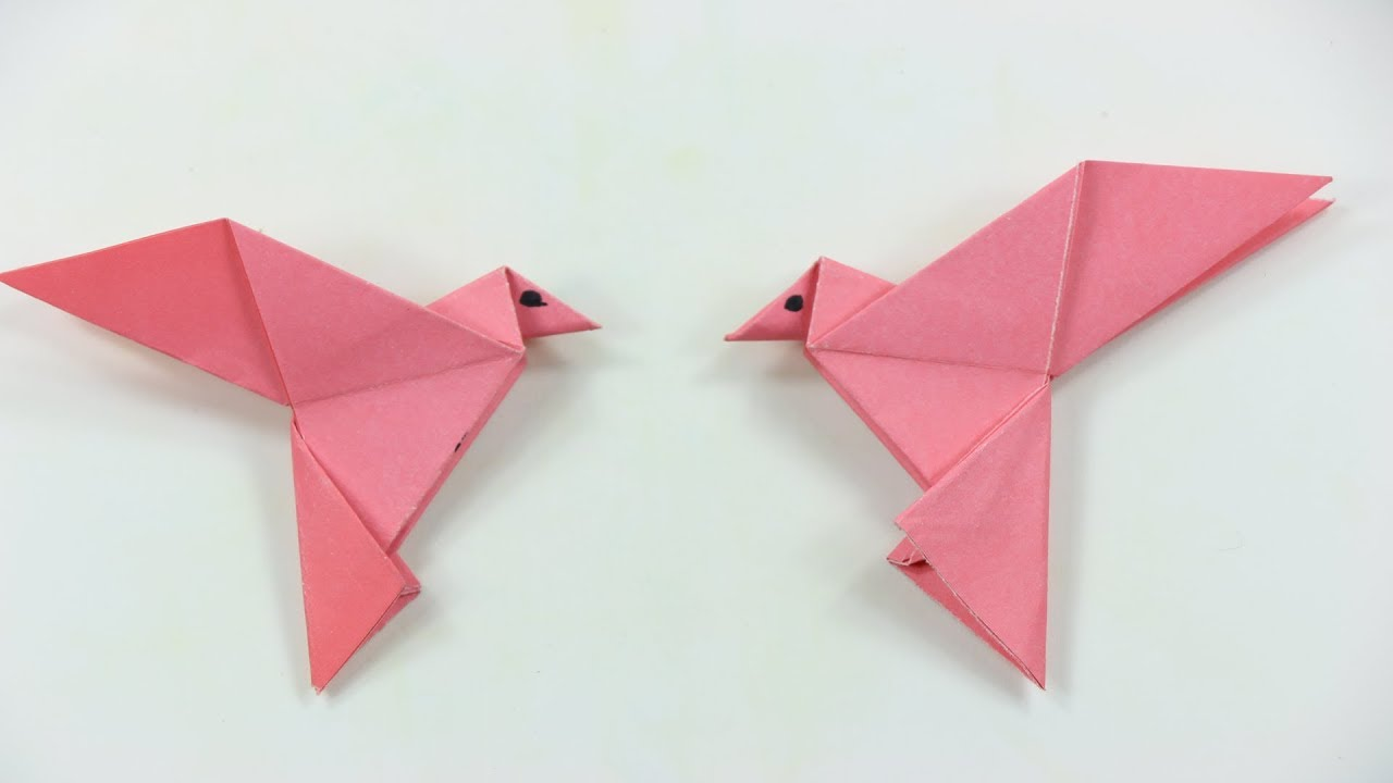 How to make a paper bird easy origami origami bird how to how to make a paper bird easy origami origami bird how to make an origami bird video tutorials jeuxipadfo Choice Image