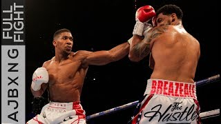 Full Fight  AJ Vs Dominic Breazeale TKO