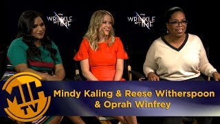 A Wrinkle in Time Mindy Kaling, Reese Witherspoon & Oprah Winfrey Interview