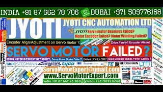 Jyoti Machine Repair Servo Motor alarms, Contoller error, Servo Drive Testing, PLC troubleshooting