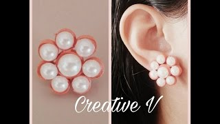 How to Make Quilling Stud Earrings/Design 7/Tutorial