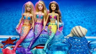 MERMAIDS Barbie Dolls Color Changing Hair water play toys