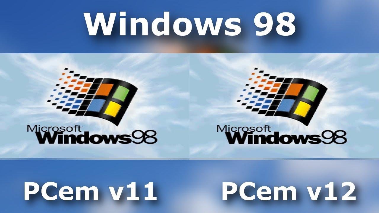 Windows 95 vs Windows 98 Startup - PCem v11