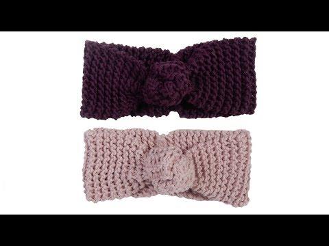 6bd4a578516 Tricotin - Headband   Bandeau noué I Loom knitting - YouTube