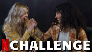 """FEAR STREET Cast Plays The """"HARDCORE RECAP"""" Challenge With Kiana Madeira, Olivia Welch & Sadie Sink"""