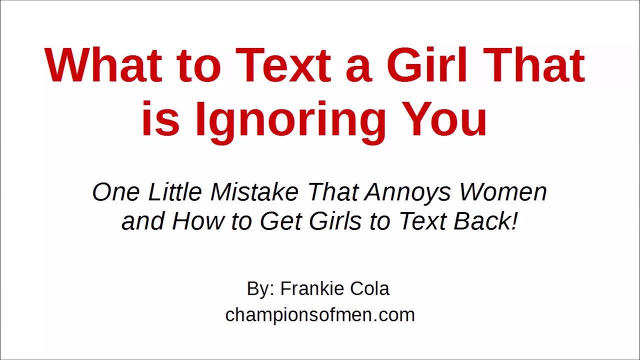 what to text back to a girl