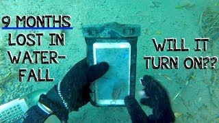 Underwater Metal Detecting a WATERFALL - I Found an iPhone, Rings, Pocket Knife (Phone Returned!!!) thumbnail