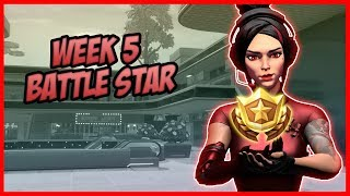 SEASON 9, Week 5 *SECRET* Battle Star Location! (Free Tier) - Fortnite Battle Royale