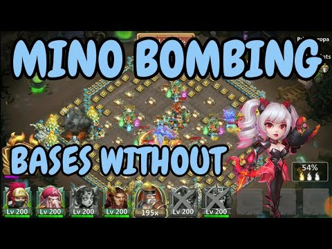 Mino Bombing Bases Without Dove Keeper L Castle Clash