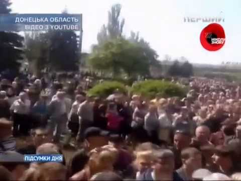 Ukrainian TV News on day of referendum in east - 11.05.14