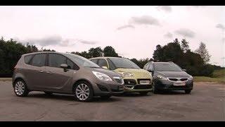 минивэн выбор Opel Meriva, Kia Ceed SW, Citroen C3 Picasso сравнение тест-драйв Автопанорама