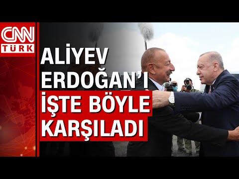 Şuşa'ya tarihi ziyaret... Cumhurbaşkanı Erdoğan'ı devlet töreniyle karşıladılar