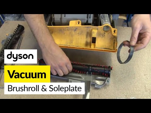 How to replace the Dyson brushbar and soleplate on a Dyson DC07 vacuum cleaner