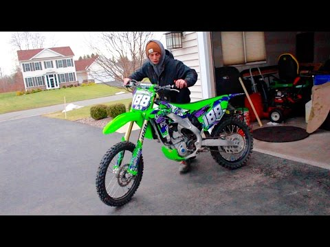 NEW DIRT BIKE GRAPHICS | KX250F BIKE WORK