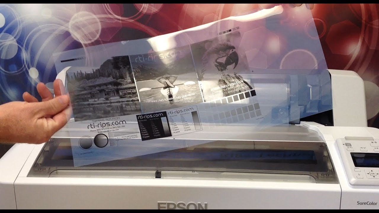 Epson Film RIP Software for Outputting Film Positives or Film Negatives for  Screen Printing