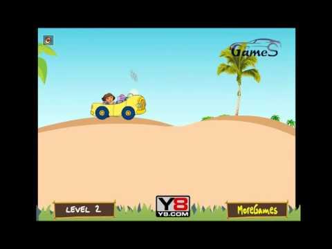 Даша исследует остров на автомобиле игры онлайн. Dora exploring the island by car. Games online