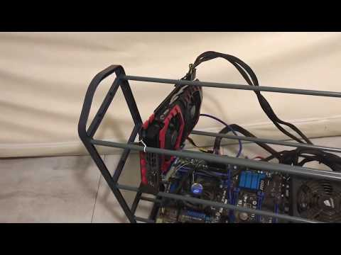 $7.99 Cheap Mining Rig Frame No Tools Needed