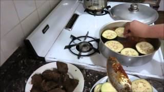 Баклажаны в Красном Соусе с Мясом По Египетски Eggplants With Meat in Red Sause Egyptian Recipe