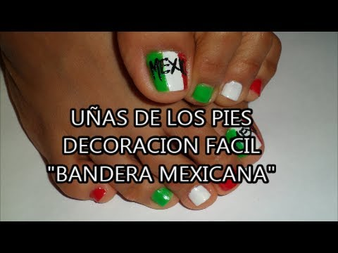 Decoracion para las u as de los pies bandera mexicana for Decoracion para la pared