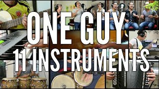 One man orchestra (11 instruments)