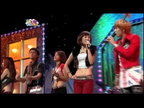 [HD] Ft Island & Kara - Fire + Pretty Girl ♡ Special Stage ♡   090809