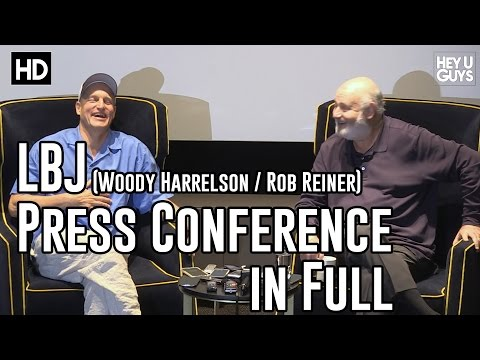 Woody Harrelson & Rob Reiner - LBJ Press Conference
