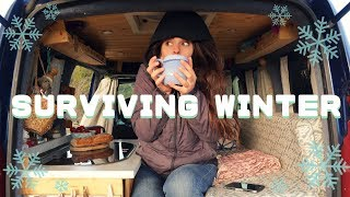 NO HEATING: how do I stay warm in the van?