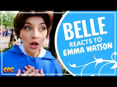DISNEYLAND BELLE REACTION TO EMMA WATSON PLAYING HER | BEAUTY AND THE BEAST 2017