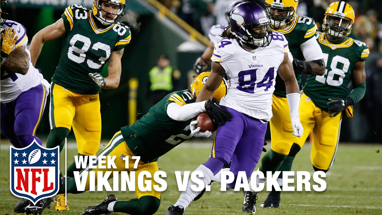 Cordarrelle Patterson's Kickoff Return Thwarted by K Mason Crosby | Vikings  vs  Packers | NFL
