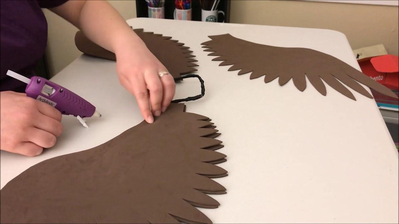 Making Simple Craft Foam Wings - YouTube
